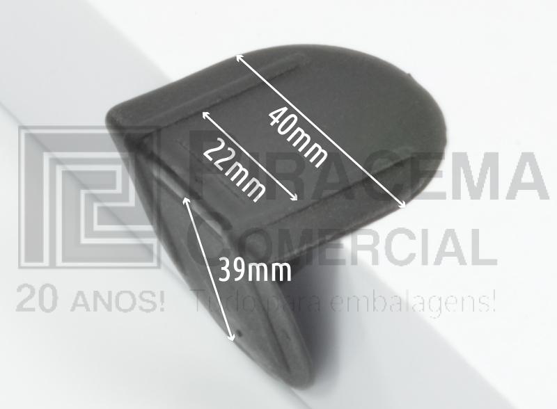 Cantoneira Plástica sem pino para fitas de 13mm, 16mm e 19mm